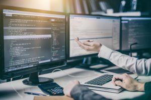 2 desktops coding