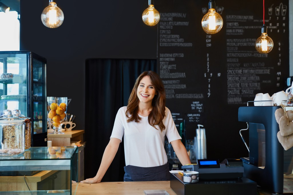 Business owner in her cafe