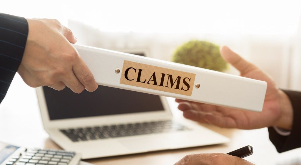 insurance claims in a binder
