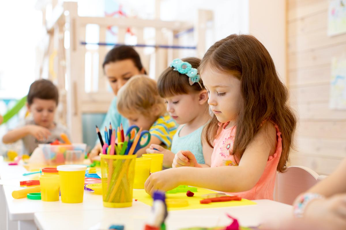 kids at a preschool