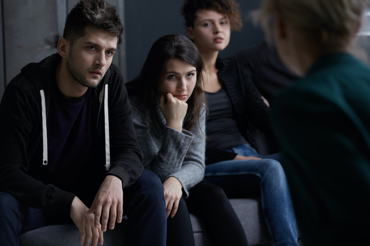 people undergoing therapy