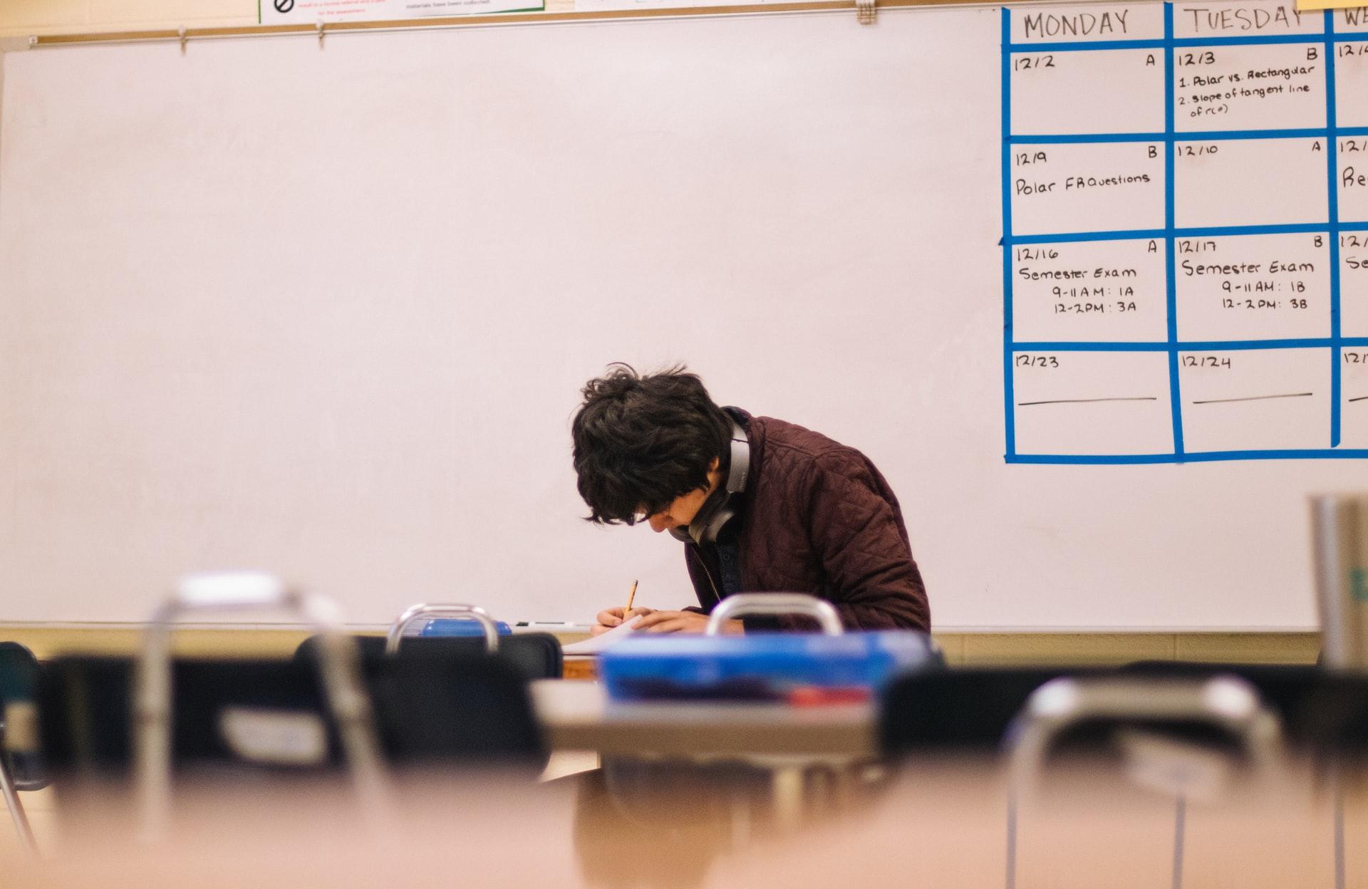 student-doing-school-work