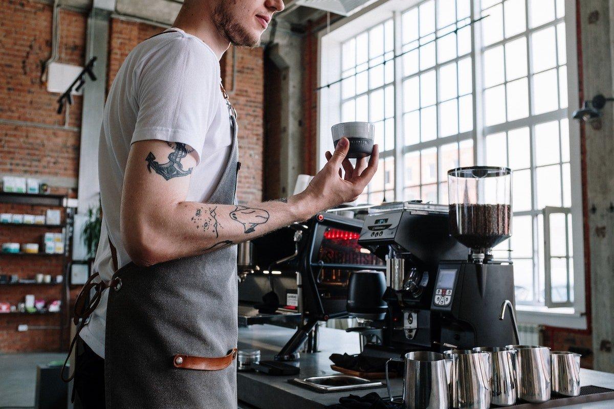 barista at a coffee shop