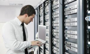 IT professional fixing server