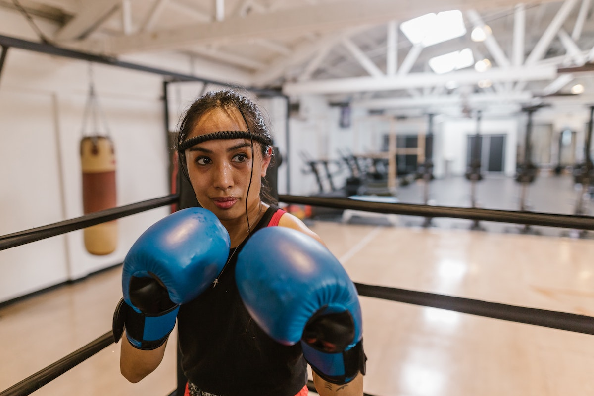 woman in the boxing ring