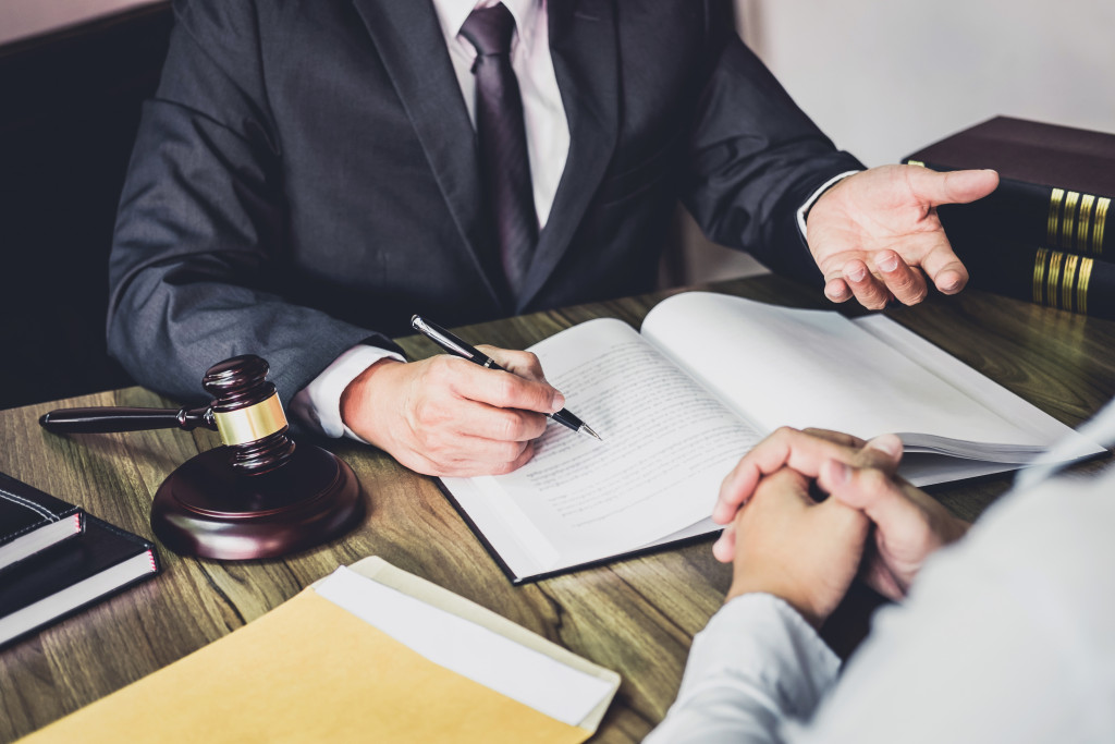 talking to a lawyer